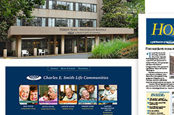Charles E. Smith Life Communities branding and signage