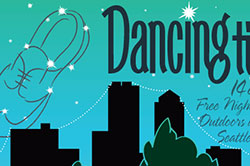 Dancing til Dusk poster and website, Seattle, WA