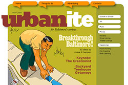 Concept for Urbanite Breakthrough Baltimore website