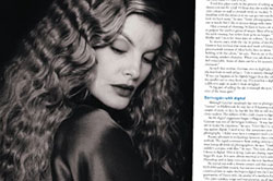 Spread on shooting portraits of movie stars, PhotoMedia magazine