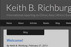 Drupal site design and development for Keith Richburg, international journalist