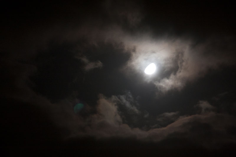 Night Clouds Lit by Moon