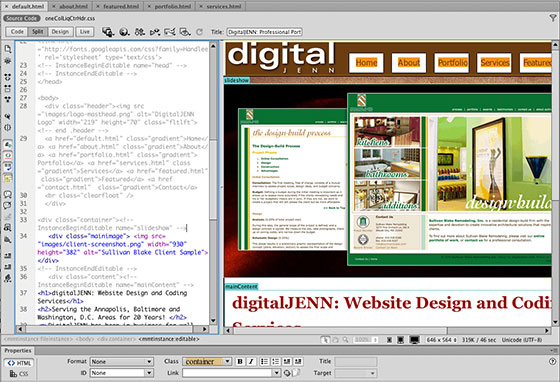 dreamweaver layout templates - web design class deane 39 s faces